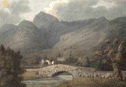 A view of the bridge under Langdale Pikes, Westmorland